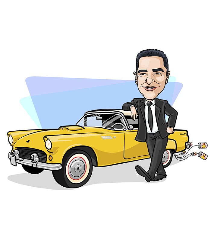 Caricatura individual com veiculo webcaricaturas 023