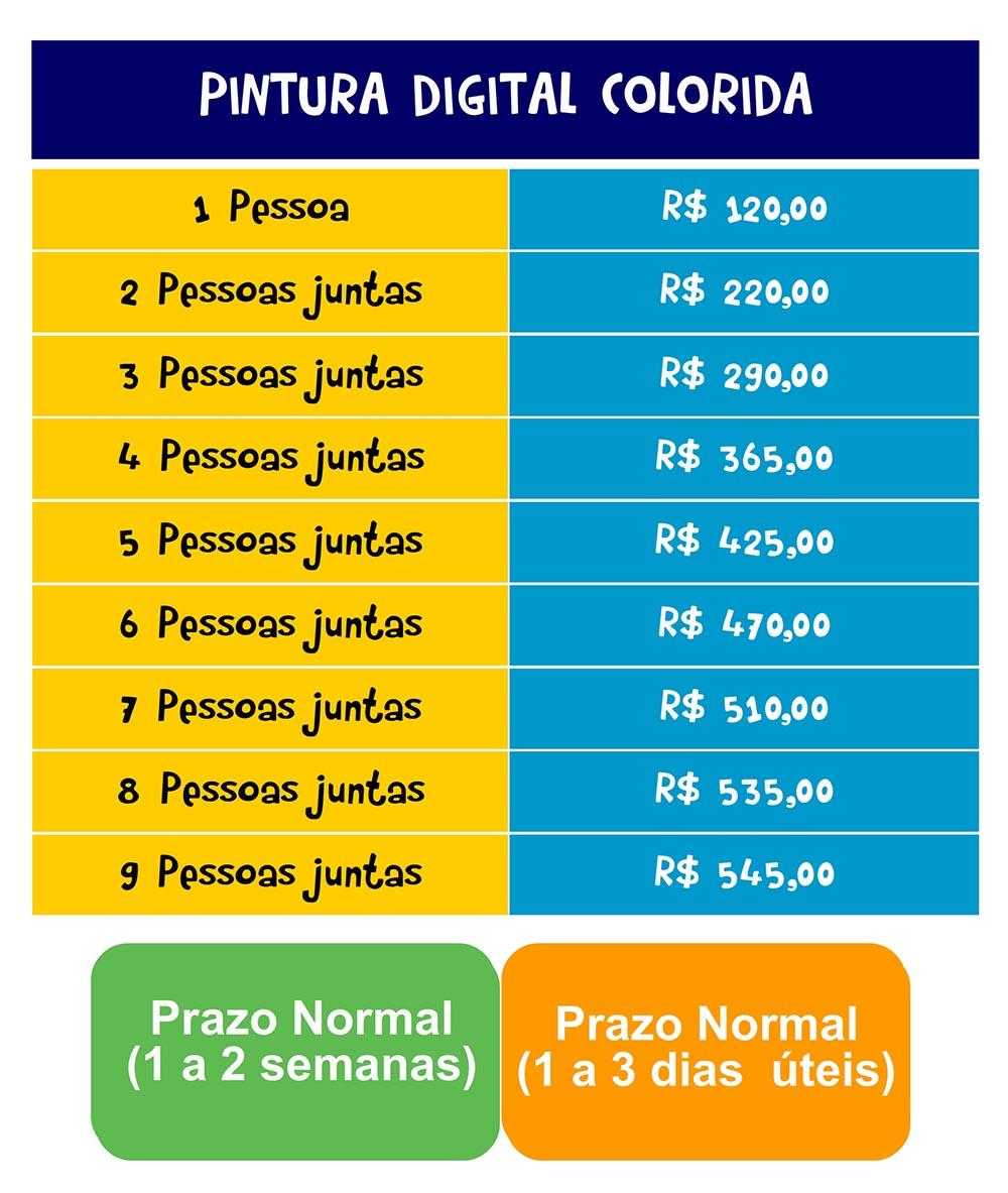 TABELA-PREÇOS0001 Tabela de preços Caricatura de grupos