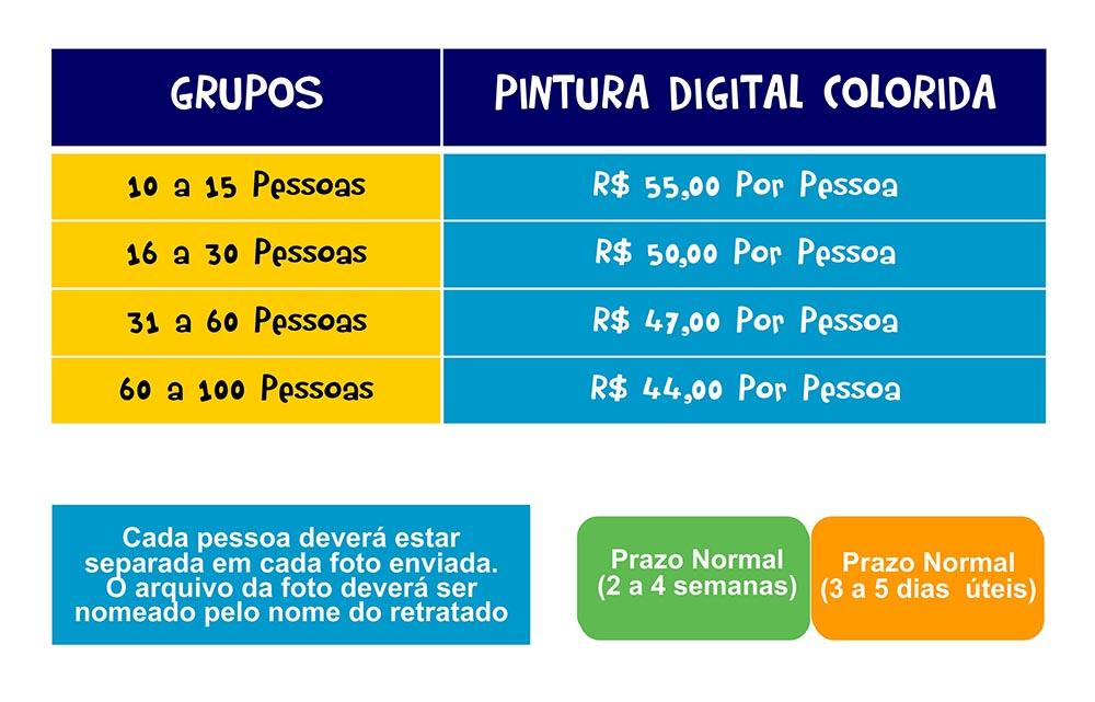 TABELA-PREÇOS0002 Tabela de preços Caricatura de grupos